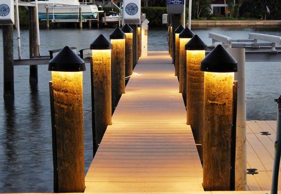 LED Dock Lighting For Boat Docks And Pilings